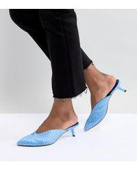 Stradivarius Spot Mule - Blue