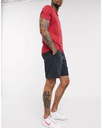 Abercrombie & Fitch Pantalones cortos sin cierres con diseño drapeado en gris oscuro