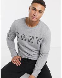 DKNY – es Sweatshirt mit Logo - Grau