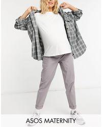 ASOS - Asos Design Maternity Chino Trouser - Lyst