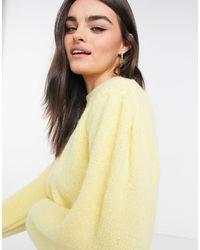 Mango Puff Sleeve Detail Jumper - Yellow