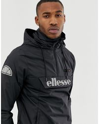 Ellesse – Ion – e Jacke zum Überziehen mit reflektierendem Logo - Schwarz