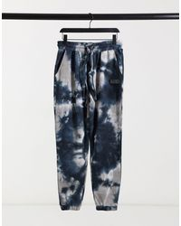 The Couture Club Marble Wash Relaxed Fit Co-ord joggers - Blue