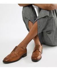 ASOS Mai Tai Leather Brogues - Brown