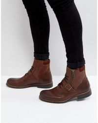 ALDO - Walden Lace Up Boots In Brown - Lyst