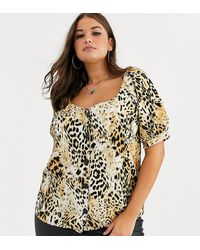 Simply Be Sweetheart Neckline Blouse - Multicolour