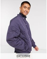 Collusion Onion Quilted Bomber Jacket - Blue
