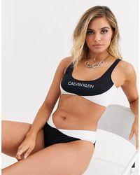 Calvin Klein Черные Плавки Бикини От Комплекта В Стиле Колор Блок -черный