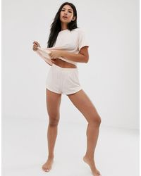 ASOS Mix & Match Jersey Short-beige - Multicolour