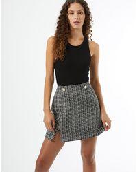 Miss Selfridge Co-ord Boucle Skirt - Black