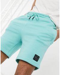 Marshall Artist – Siren – Shorts aus Jerseystoff mit Reißverschluss - Blau
