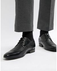 New Look - Faux Leather Brogue With Embossed Detail In Black - Lyst