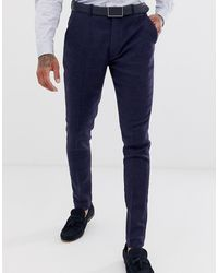 ASOS Bruilolft - Superskinny Pantalon - Blauw