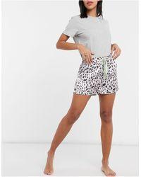 Liquorish Nightwear Pyjama Shorts - Multicolour