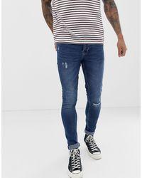Only & Sons Superskinny Jeans Met Midblauwe Wassing
