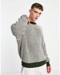 Mennace Knitted Sweater - Green
