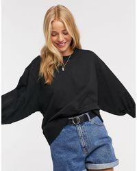 ASOS Boxy Sweatshirt With Wide Sleeve - Black