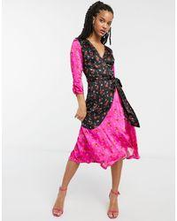 Ghost Платье Миди С Разноцветным Цветочным Принтом London-многоцветный
