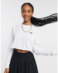Vans Junior - T-shirt court à manches longues - Blanc
