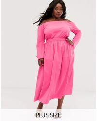 AX Paris Neon Midi Skirt - Pink