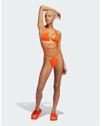 Ivy Park Adidas X Double Strap Bikini Bottoms - Orange