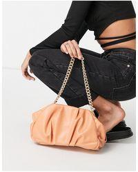 ASOS Oversized Ruched Clutch Bag - Orange