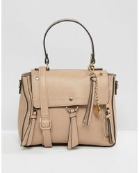 ALDO - Gadossi Camel Tote Bag With Ring And Tassel Detailing - Lyst