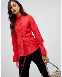 AX Paris Рубашка С Длинными Рукавами -красный
