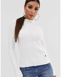 G-Star RAW Mock Neck Knit Sweater - White
