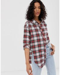 Cheap Monday Organic Cotton Shirt With Knot Front In Check - Multicolor