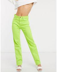 Pepe Jeans Dua Lipa x – Jeans mit hohem Bund und geradem Schnitt - Grün