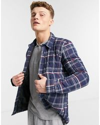 Threadbare Long Sleeve Check Shirt - Blue