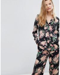 Y.A.S - Co-ord Bloom Print Pyjama Shirt - Lyst