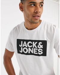 Jack & Jones Originals Chest Logo T-shirt - White