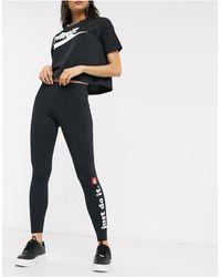 """Nike Черные Леггинсы С Надписью """"just Do It"""" -черный"""