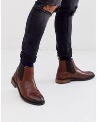Tommy Hilfiger Коричневые Кожаные Ботинки Челси -коричневый - Многоцветный