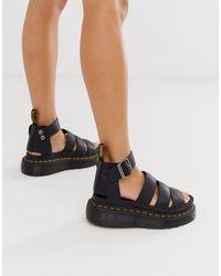 Dr. Martens Clarissa II Quad - Grosses sandales - Noir