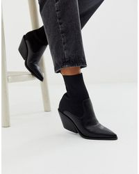 ASOS - Rekindle - Western Sock Boots - Lyst