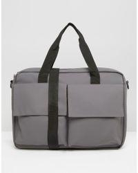 Rains - Pace Satchel Bag In Grey - Lyst
