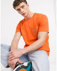 Carhartt WIP - T-shirt arancione con tasca - Lyst