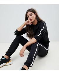 ASOS - Asos Design Tall Tracksuit Cute Sweat / Basic jogger With Tie With Contrast Binding - Lyst