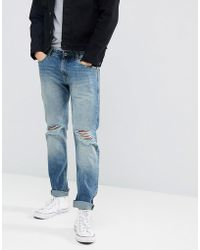 Produkt - Regular Fit Jeans With Distressed Knee Details - Lyst