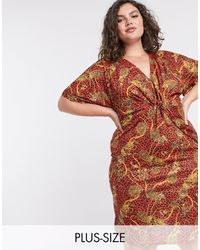 Simply Be Knot Front Dress - Multicolour