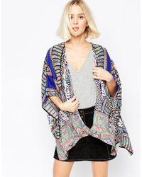Greylin Fleur Kimono Jacket - Blue