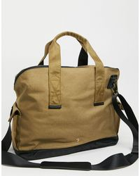Farah Hopsack Holdall Bag - Brown