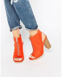 Glamorous Burnt Orange Suede Peep Toe Shoe Boots