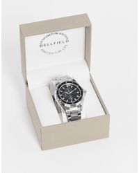 Bellfield Mens Bracelet Watch With Black Dial - Metallic