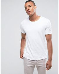 Esprit - Longline T-shirt With Roll Sleeve - Lyst