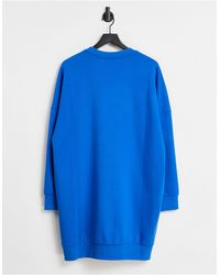 Love Moschino - Синее Платье-футболка С Логотипом В Форме Молний -голубой - Lyst