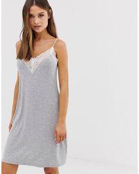 Lindex Серая Ночная Рубашка - Многоцветный